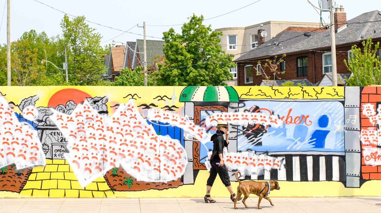 Graffiti wall in Toronto, Canada