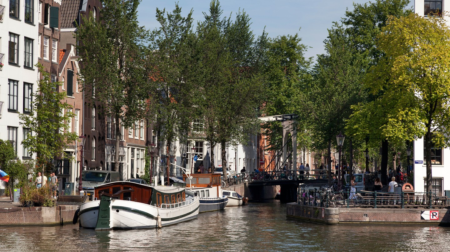 A luxury hotel is never too far away in Amsterdam