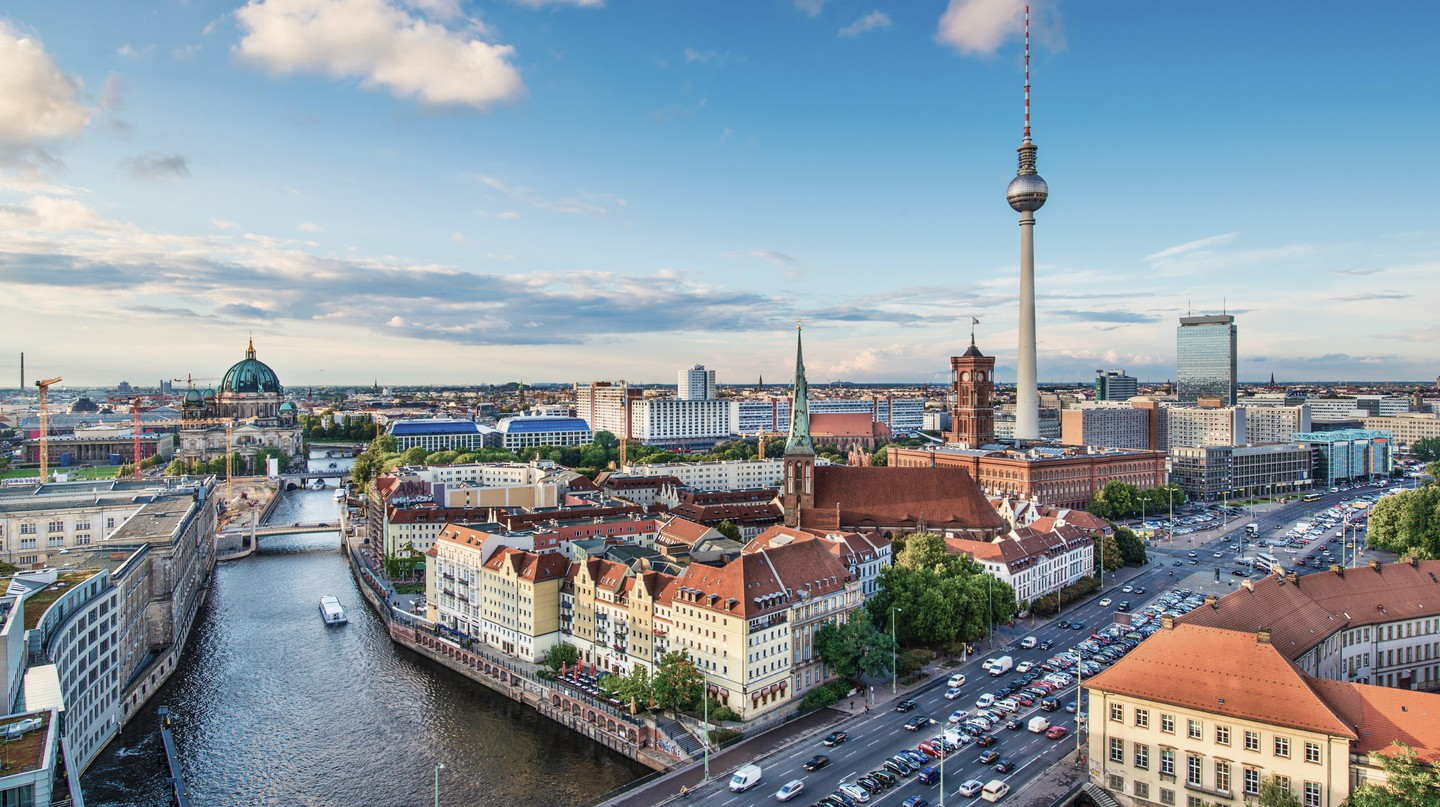 The River Spree flows through Berlin