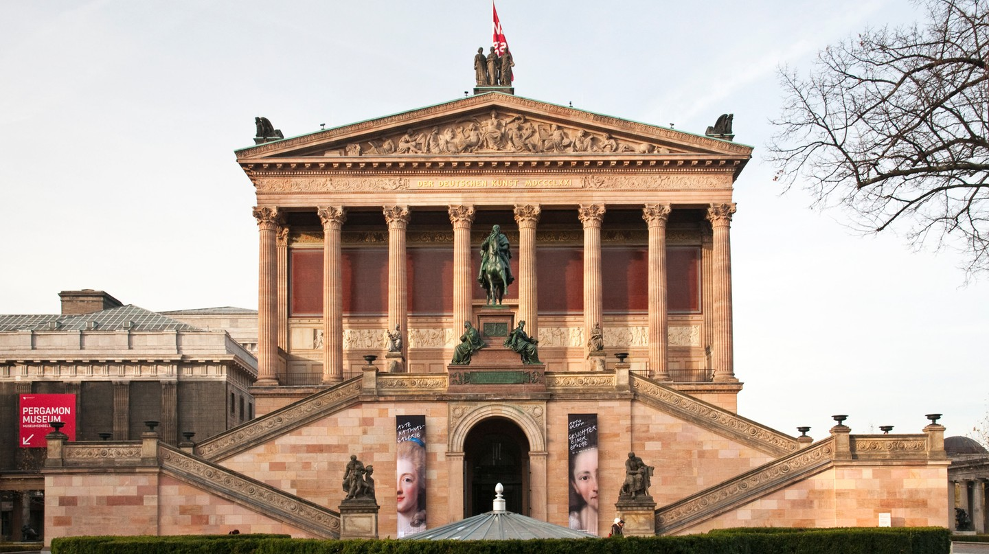 The Alte National Galerie on Museum Island in Berlin, Germany