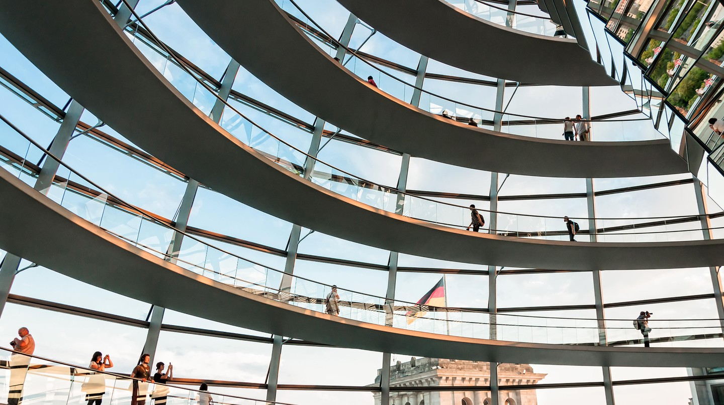 The Reichstag dome in Berlin offers incredible views