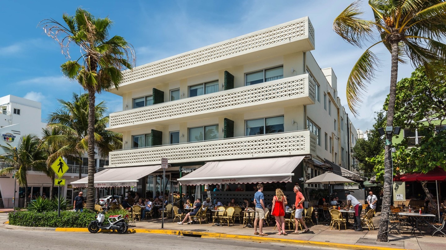 Miami's Art Deco District in South Beach offers plenty of outdoor spots to relax after a day of shopping