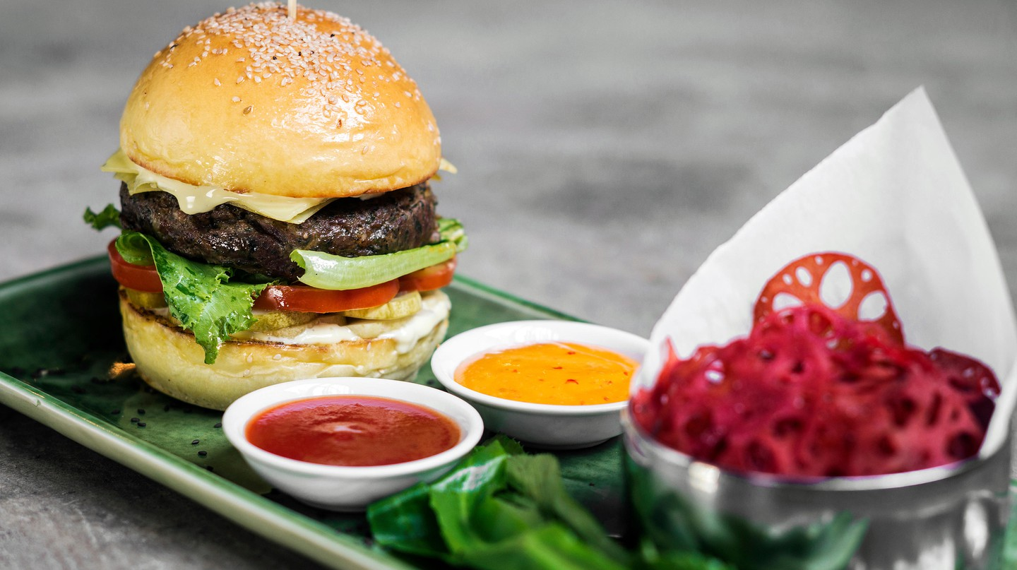 Enjoy an Asian fusion burger in Toronto