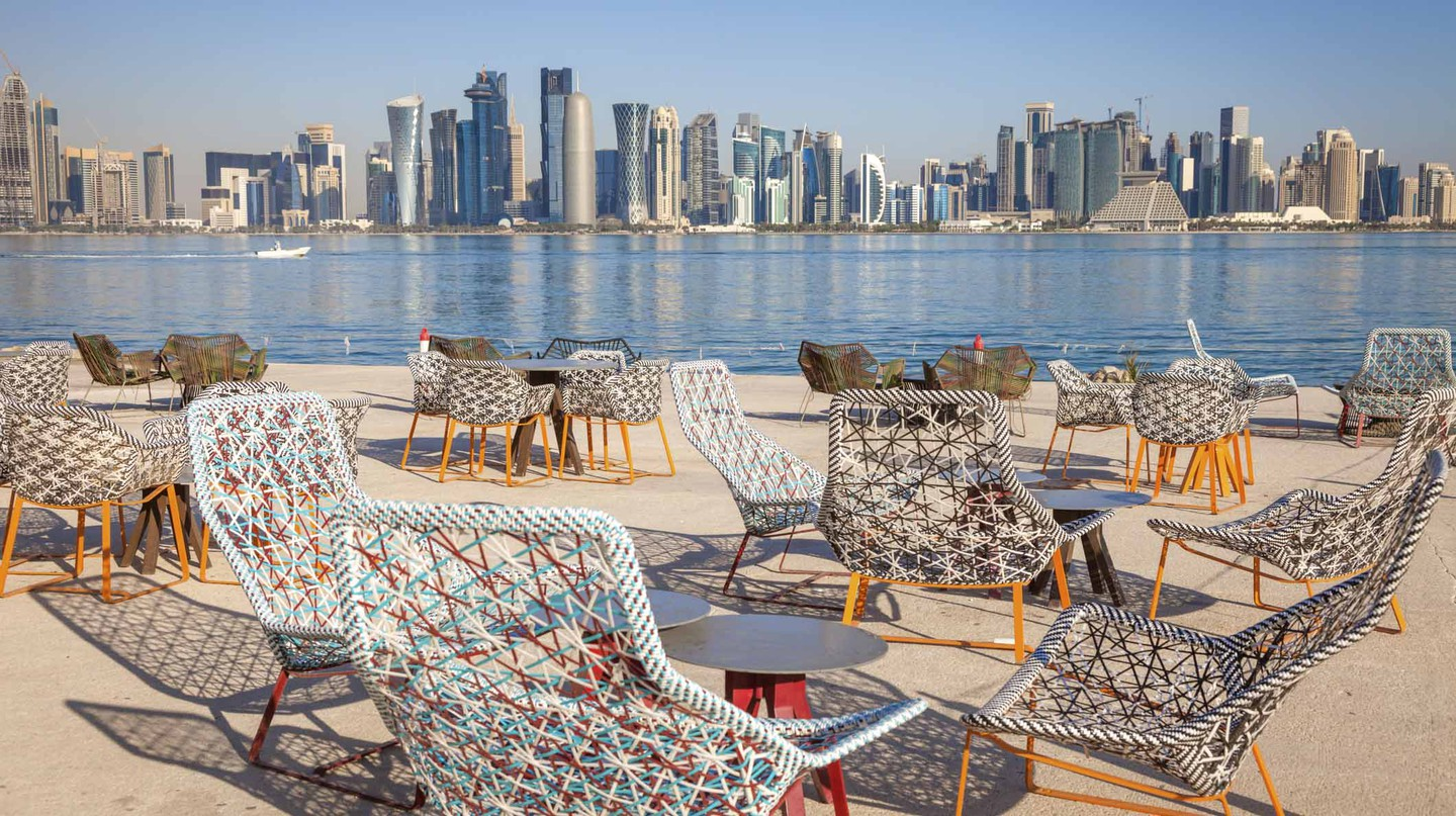 It's not just the quality of food to enjoy in Doha – the views are pretty exceptional too