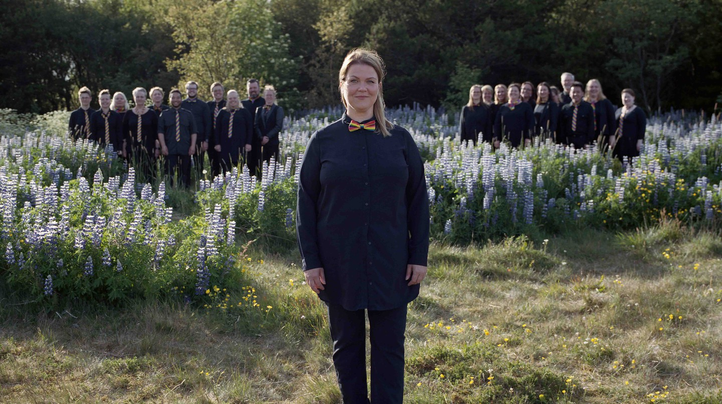 Hugrún Ósk Bjarnadóttir is the chair of the first and only LGBTQ choir in Iceland