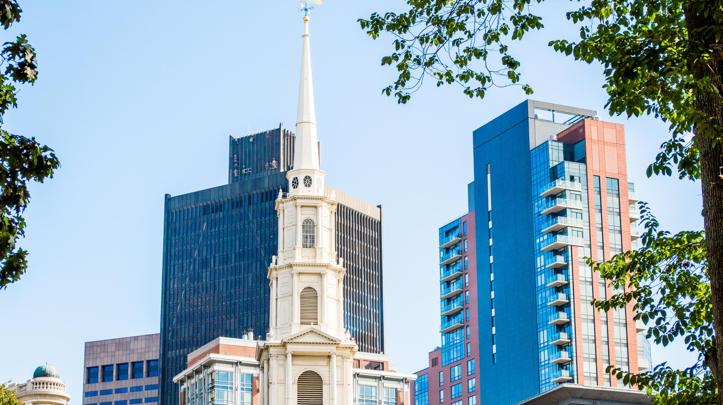 Boston's skyline features both new and historic architecture
