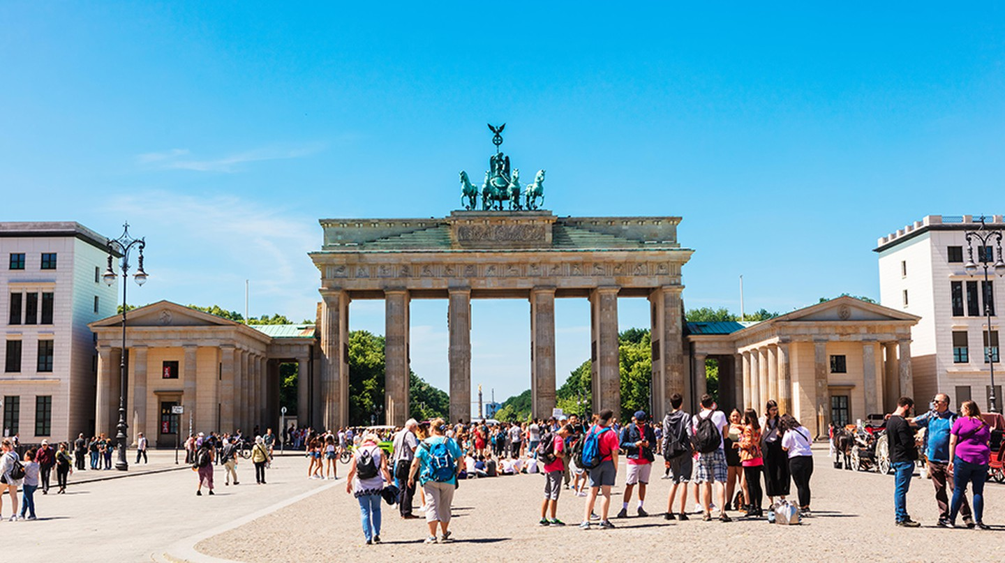 The Brandenburg Gate stands as a symbol of Berlin's unity