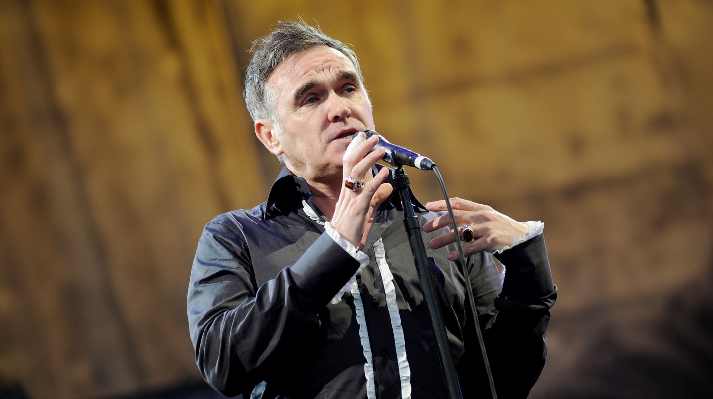 Morrissey performed at Glastonbury Festival in 2011
