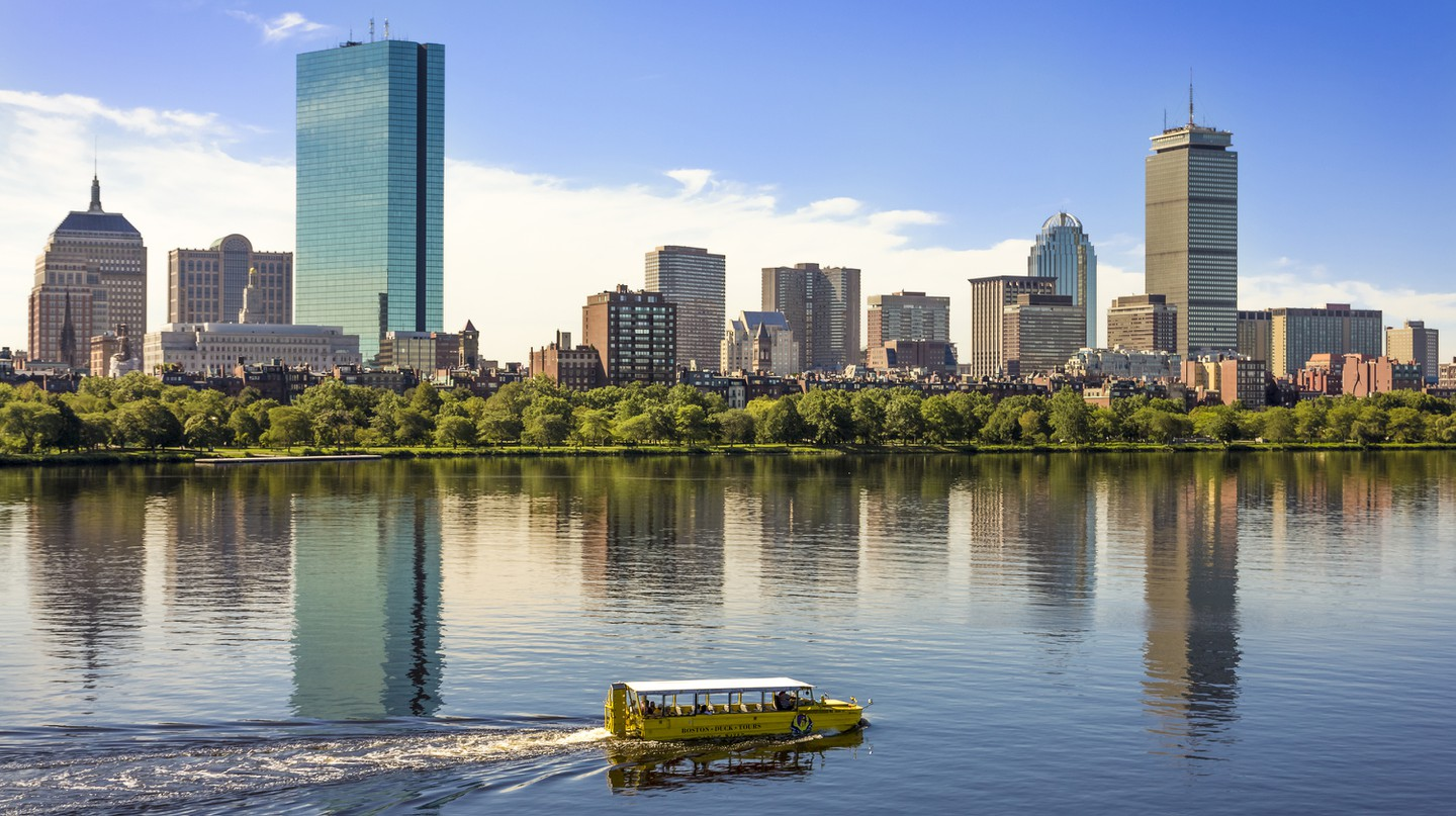 Boston Duck Tours takes visitors on an 80-minute tour of Boston