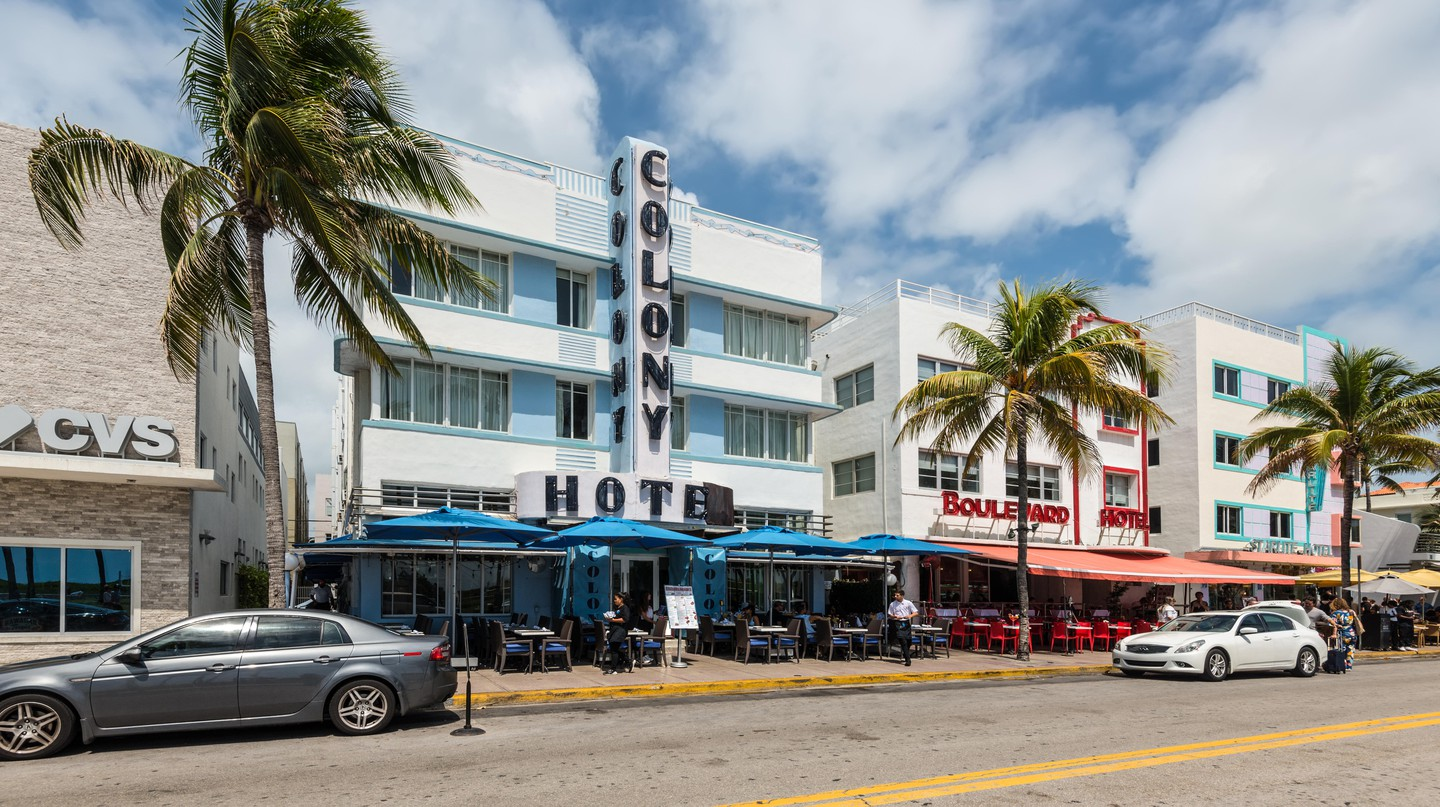 The Colony Hotel is an icon of Miami's Art Deco Historic District