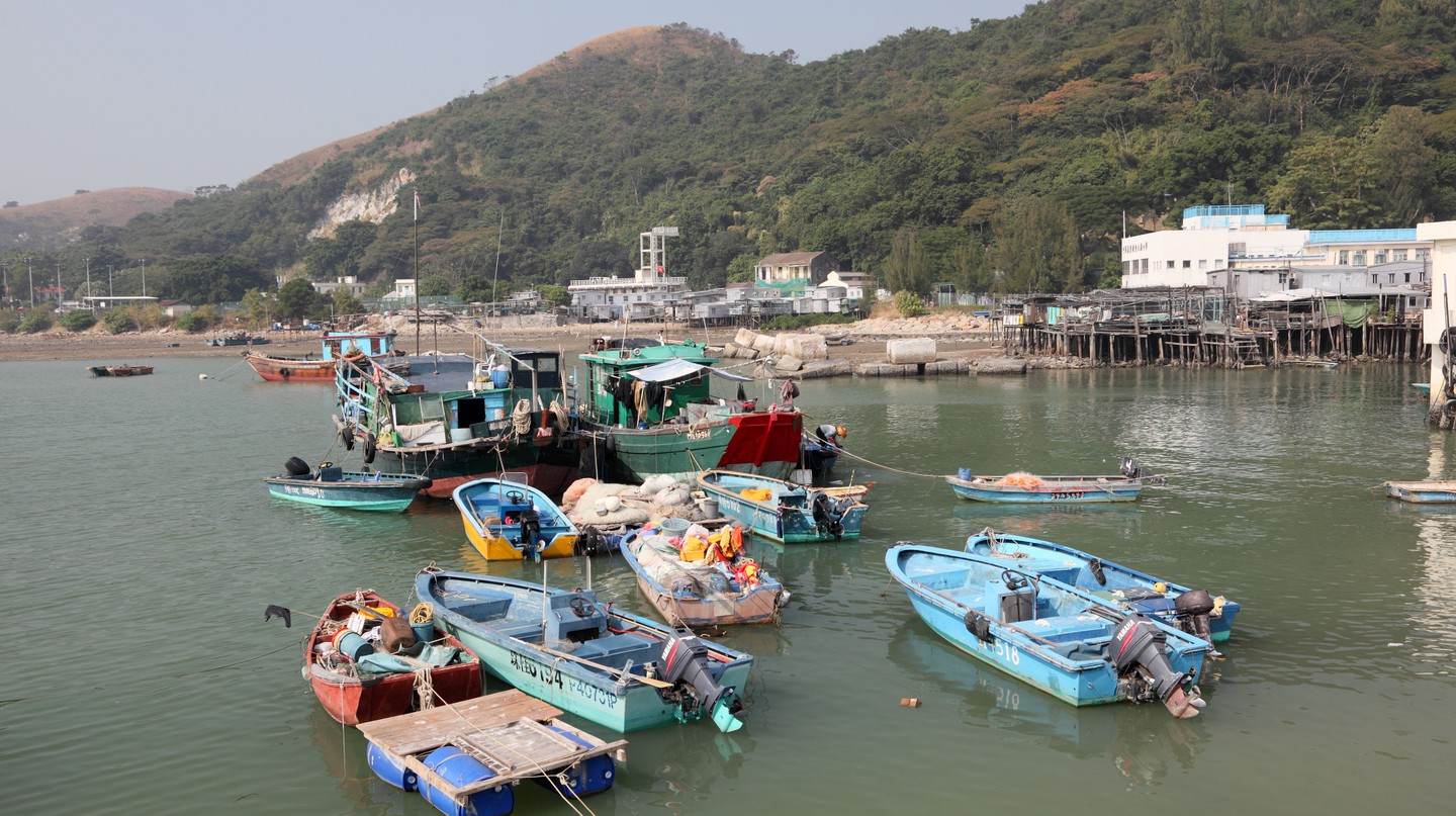 Fishing village Tai O at Lantau island, Hong Kong