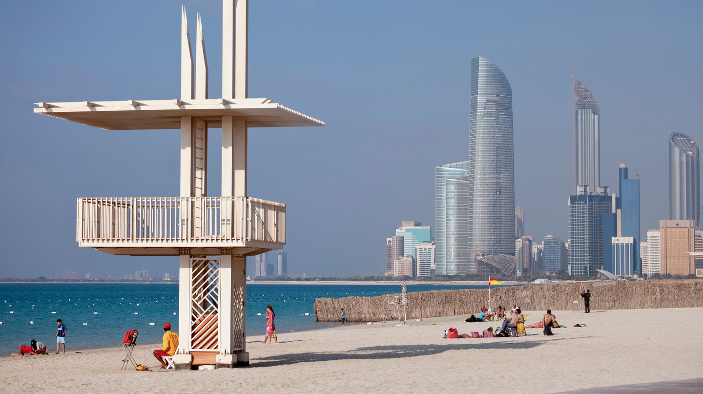 The public beach, Abu Dhabi, United Arab Emirates