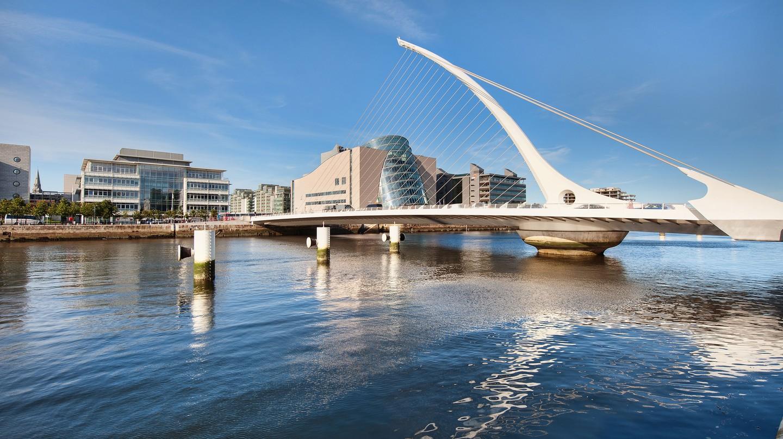Samuel Beckett Bridge over the River Liffey in Dublin, Ireland