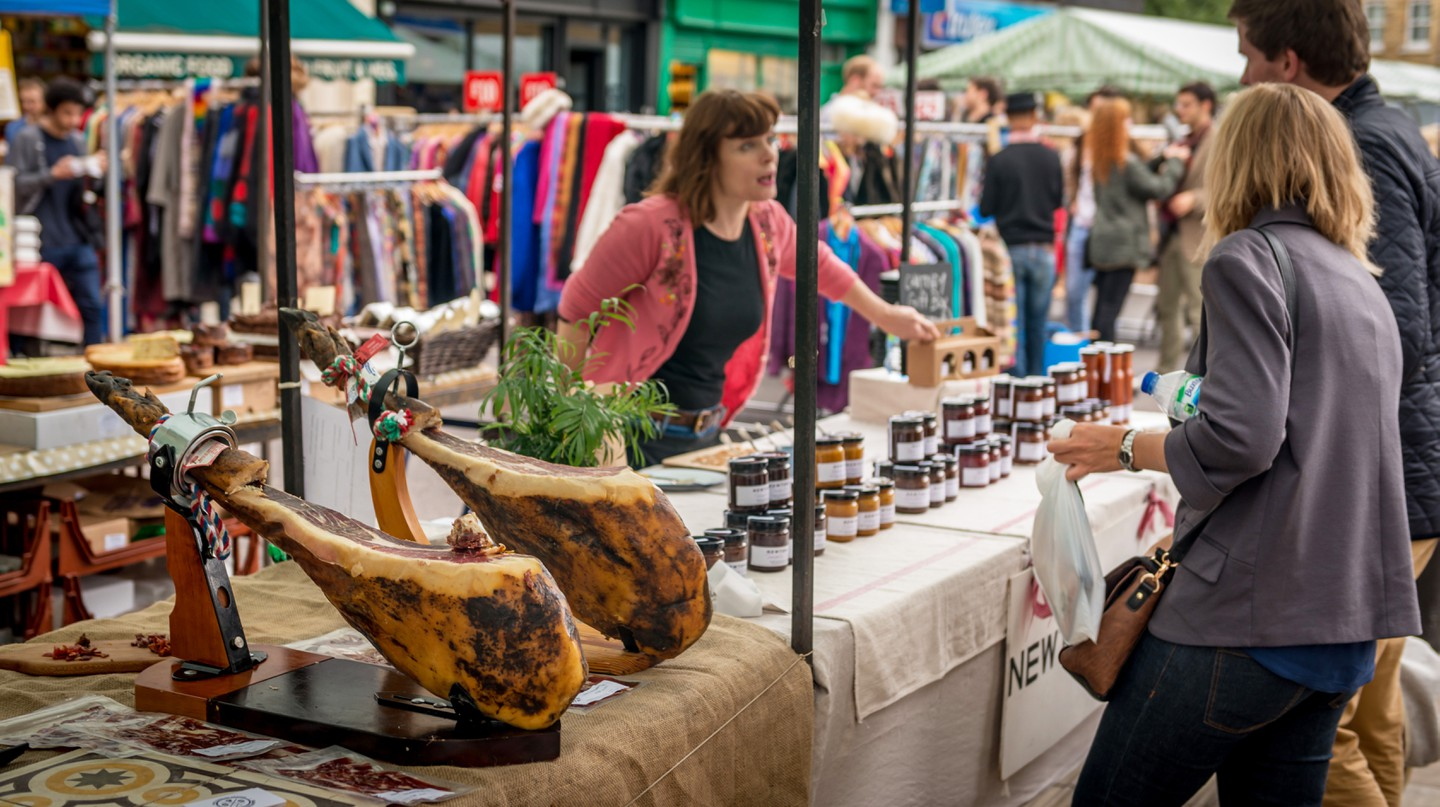 Hackney has an excellent food market every Saturday