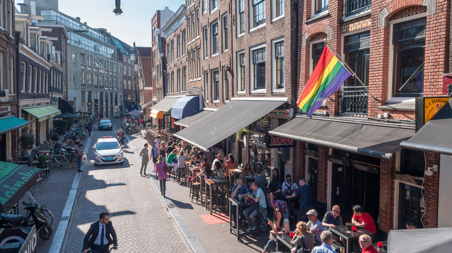 Amsterdam's Reguliersdwarsstraat is the traditional heart of the LGBTQ community