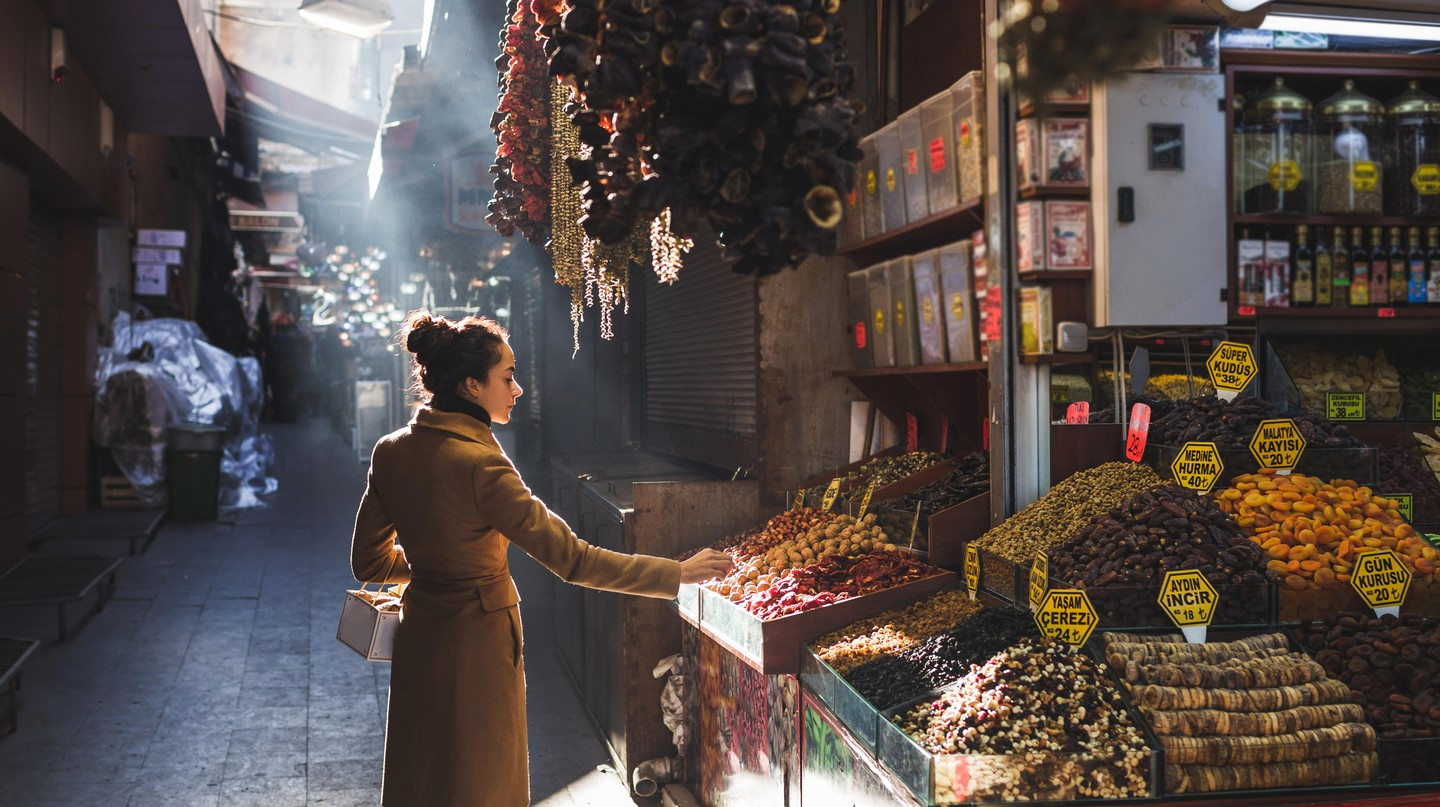 The Grand Bazaar in Istanbul has thousands of vendors selling a variety of goods