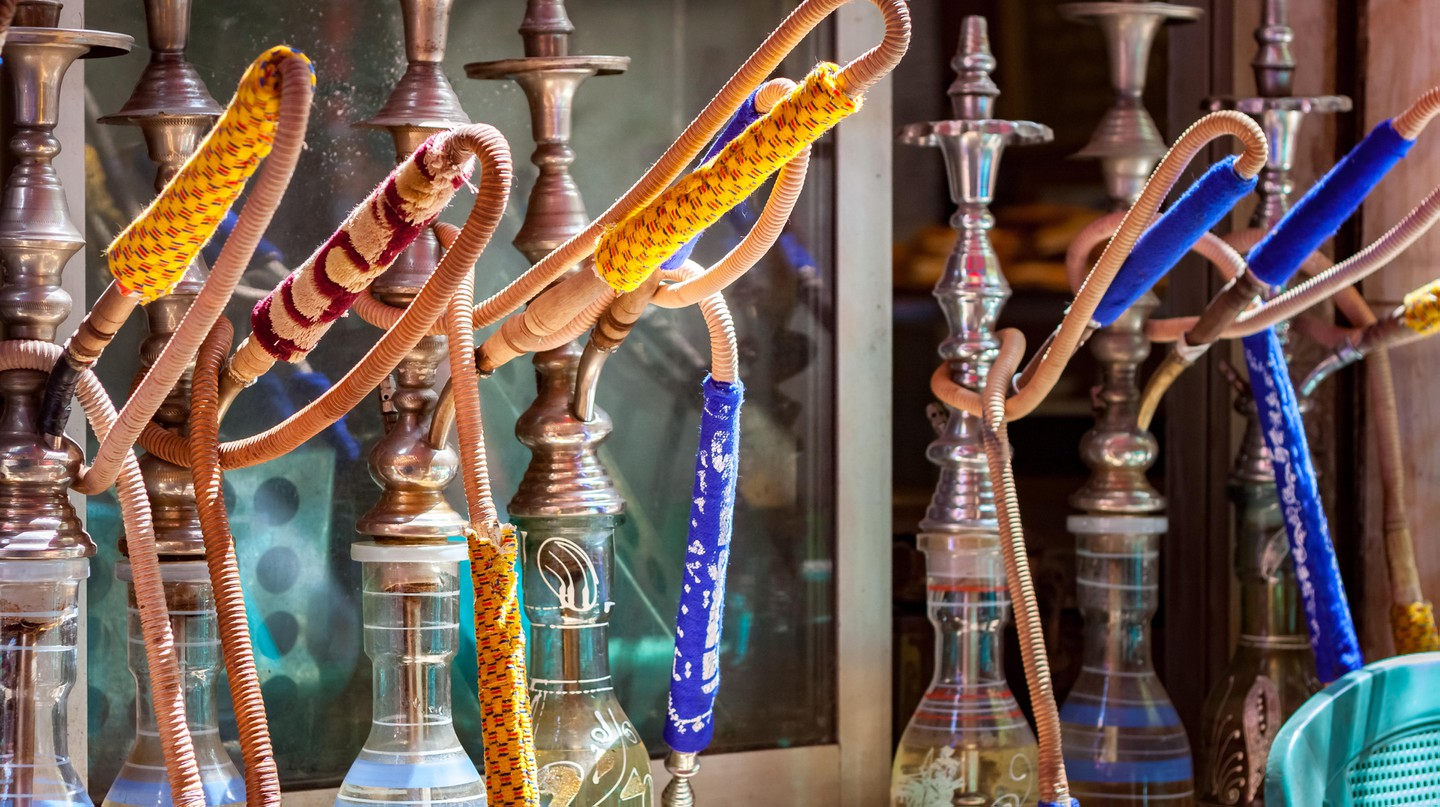 Hookah smoking is popular in the Middle East
