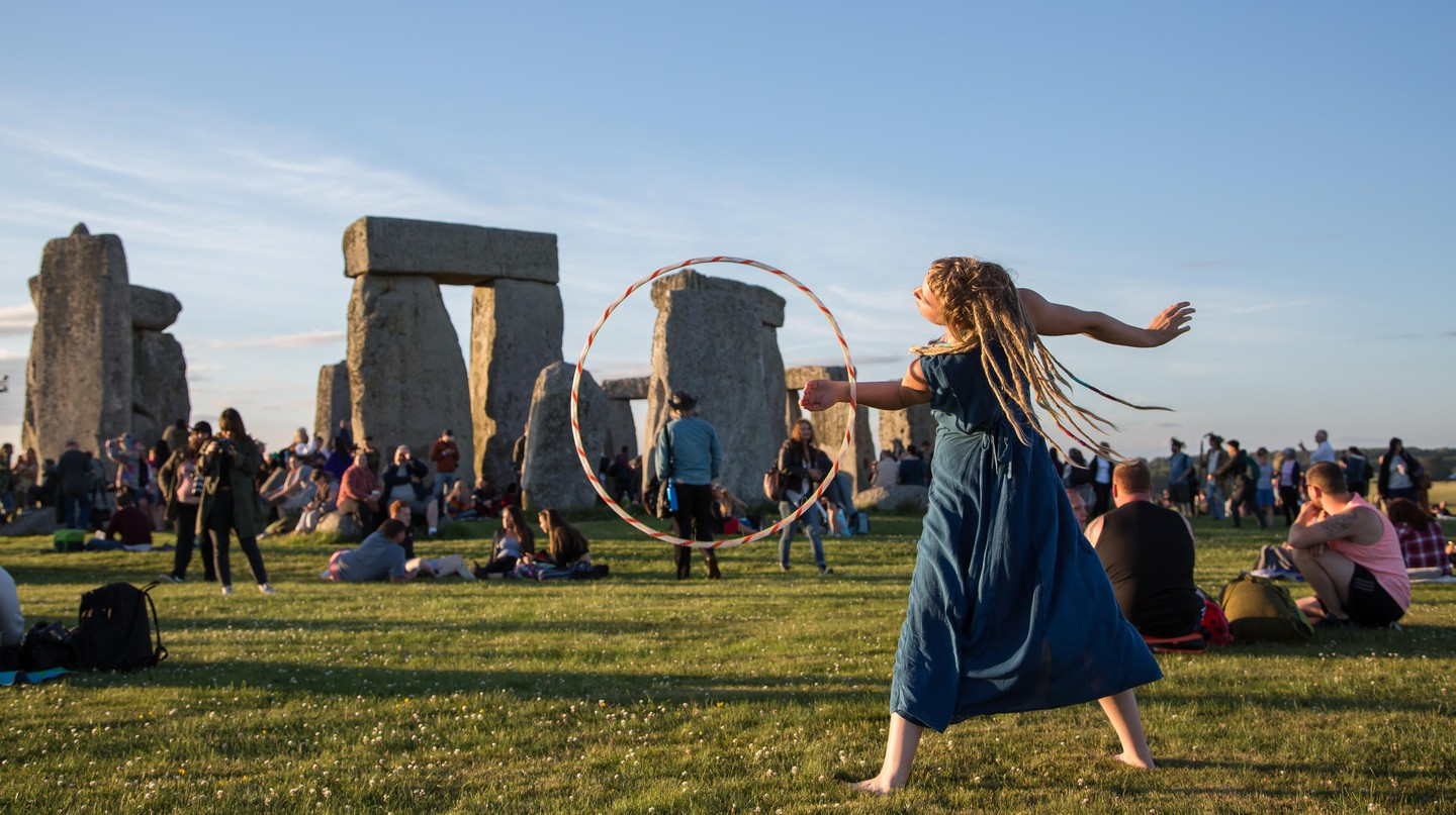 The summer solstice at Stonehenge is a group celebration summoning good energy for the world