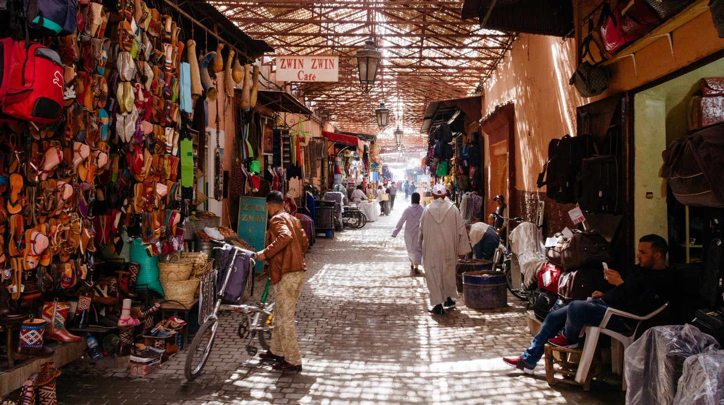 Marrakech, Morocco, is a real destination for its shopping and spas