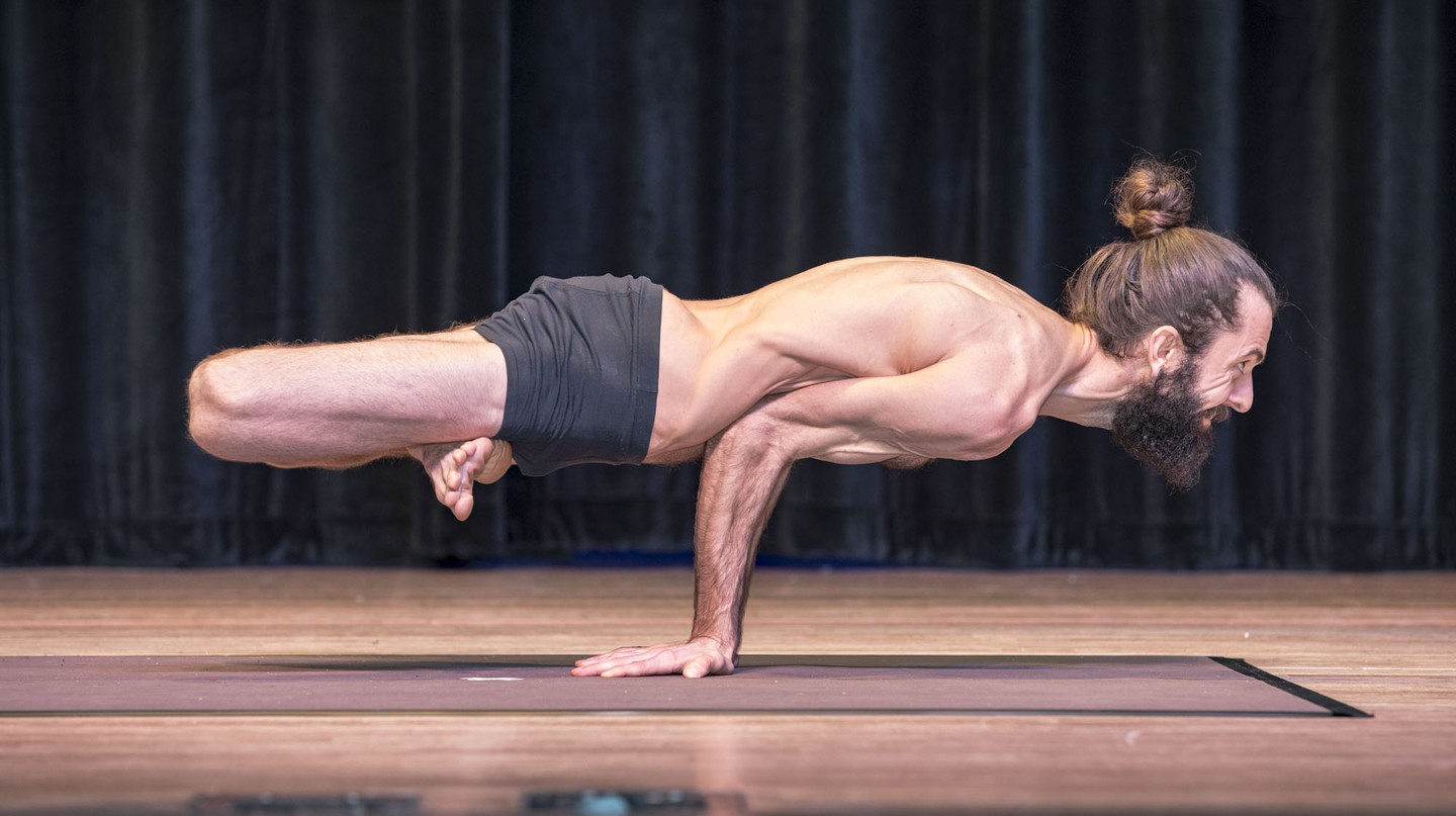 Spencer Larson at the USA Yoga Championships