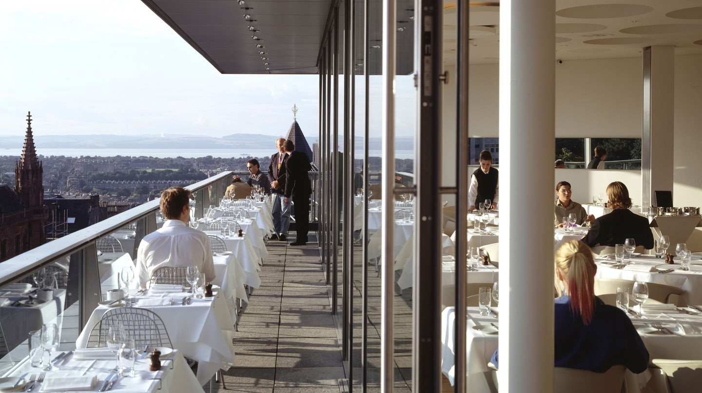 The Forth Floor Restaurant in Harvey Nichols is one must-try lunch option in Edinburgh