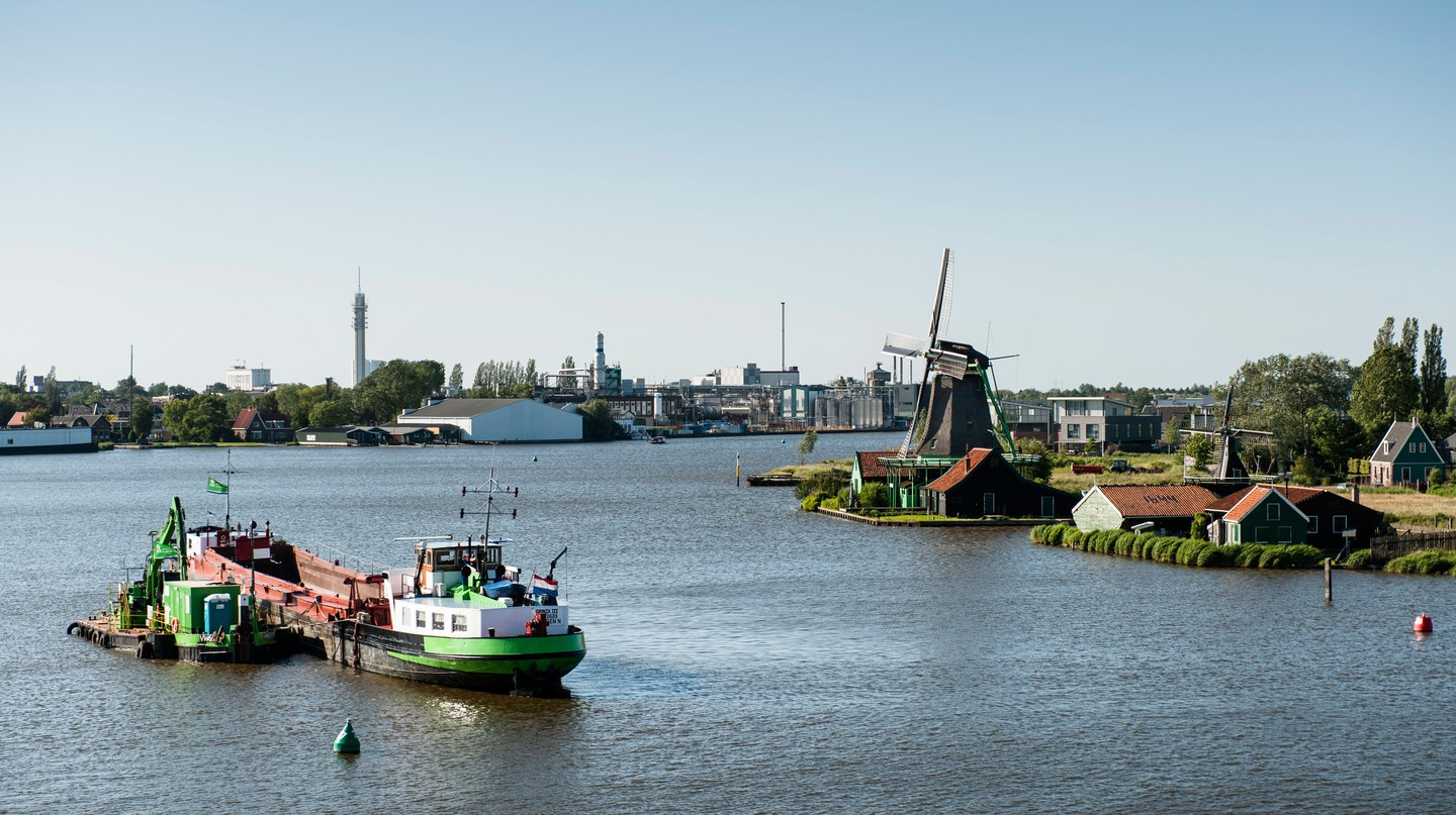 Take a day trip to Zaanse Schans to see iconic windmills