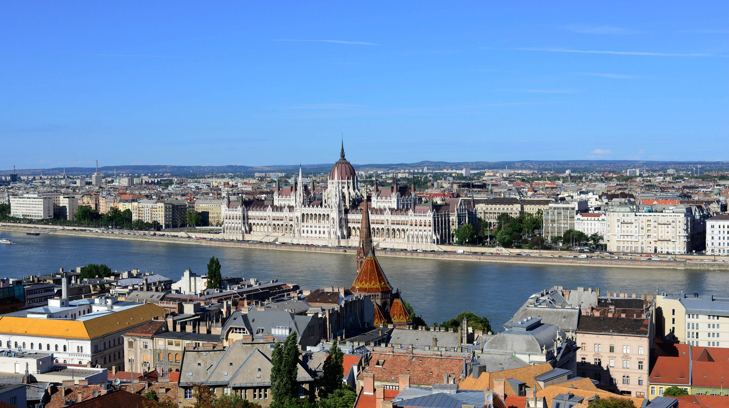 Budapest straddles the Danube River
