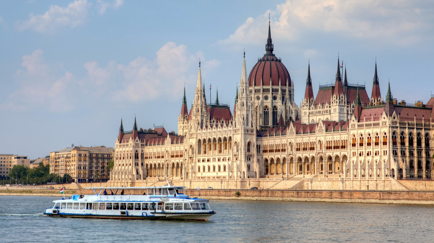The Hungarian Parliament Building is famed for its Neo-Gothic architecture