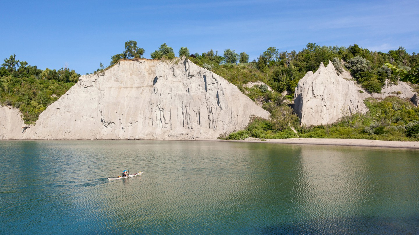 Explore the Greater Toronto Area and you will find gems like Scarborough Bluffs, a 300-foot-high escarpment on the shoreline of Lake Ontario