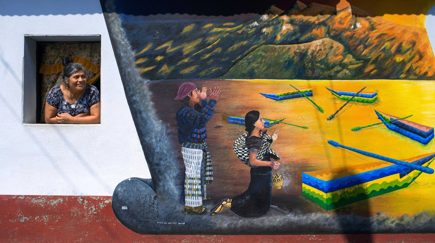 The town's young artists paint murals to promote Tz'utujil identity and philosophy