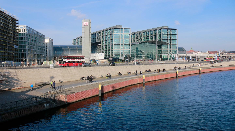 The Berliner Hauptbahnhof is Berlin's main railway station