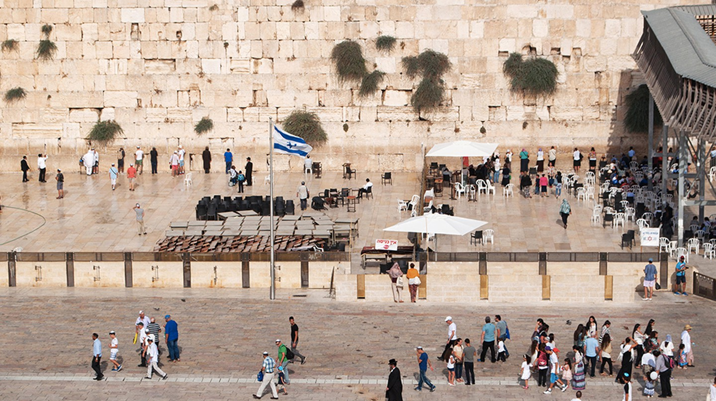 The Western Wall or Wailing Wall is one of the holiest sites in Jerusalem