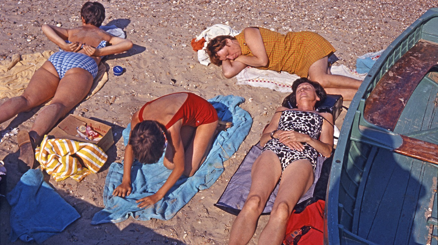 Sunbathers on the Isle of Wight