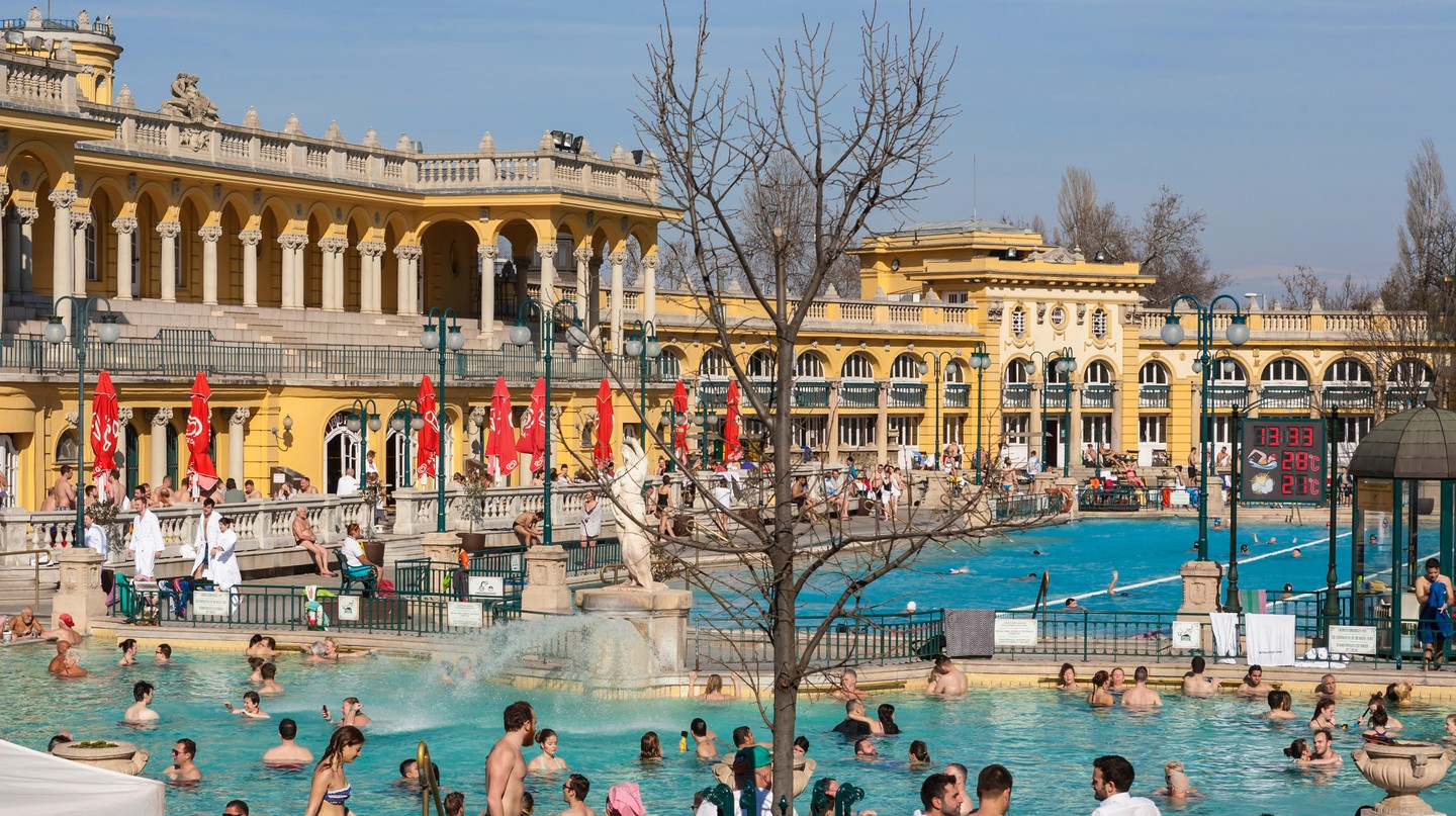 The Széchenyi Thermal Baths are among Budapest's most popular