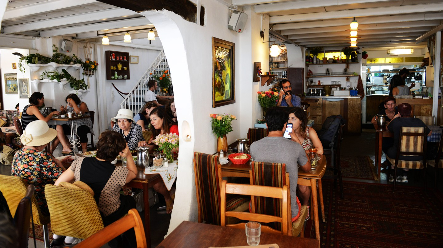 Café Puaa is one of the most popular spots in Jaffa