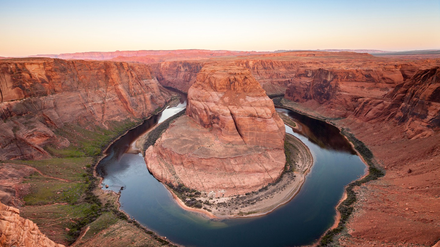 Take some time out from the casinos of Las Vegas to visit Horseshoe Bend
