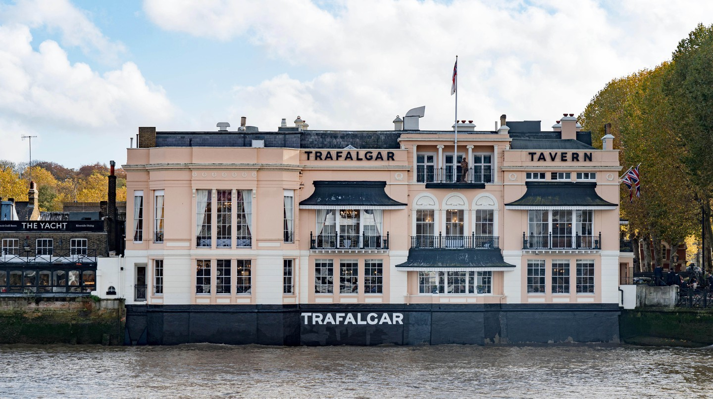 The Trafalgar Tavern is a local institution