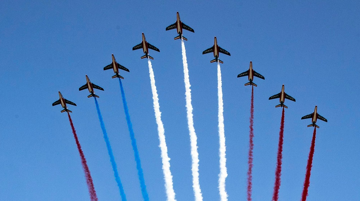 French jets mark Bastille Day in Paris in 2018