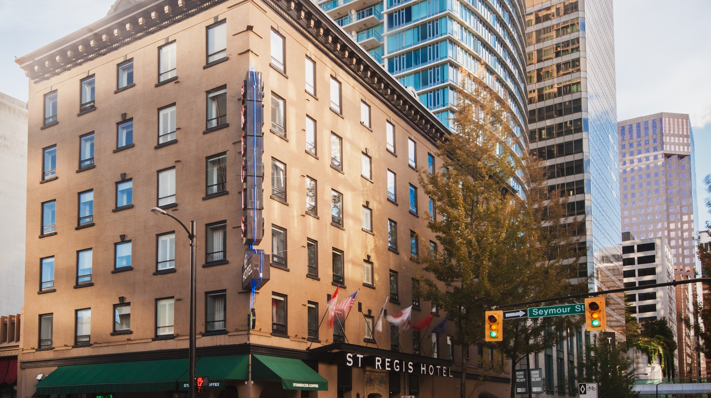 The St Regis Hotel is among the best boutique hotels in Vancouver