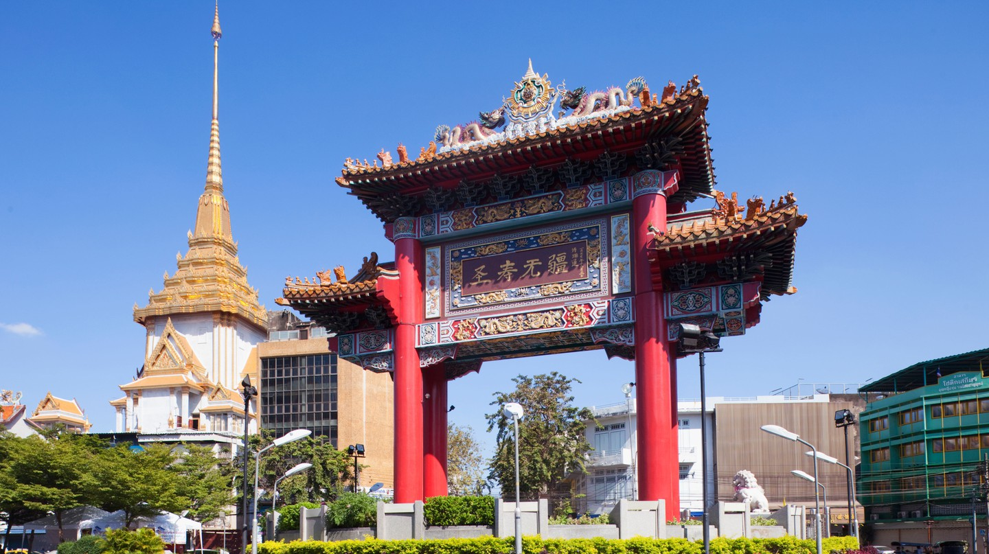 Built in 1999, the Chinatown Gate is a newer addition to Bangkok's cityscape