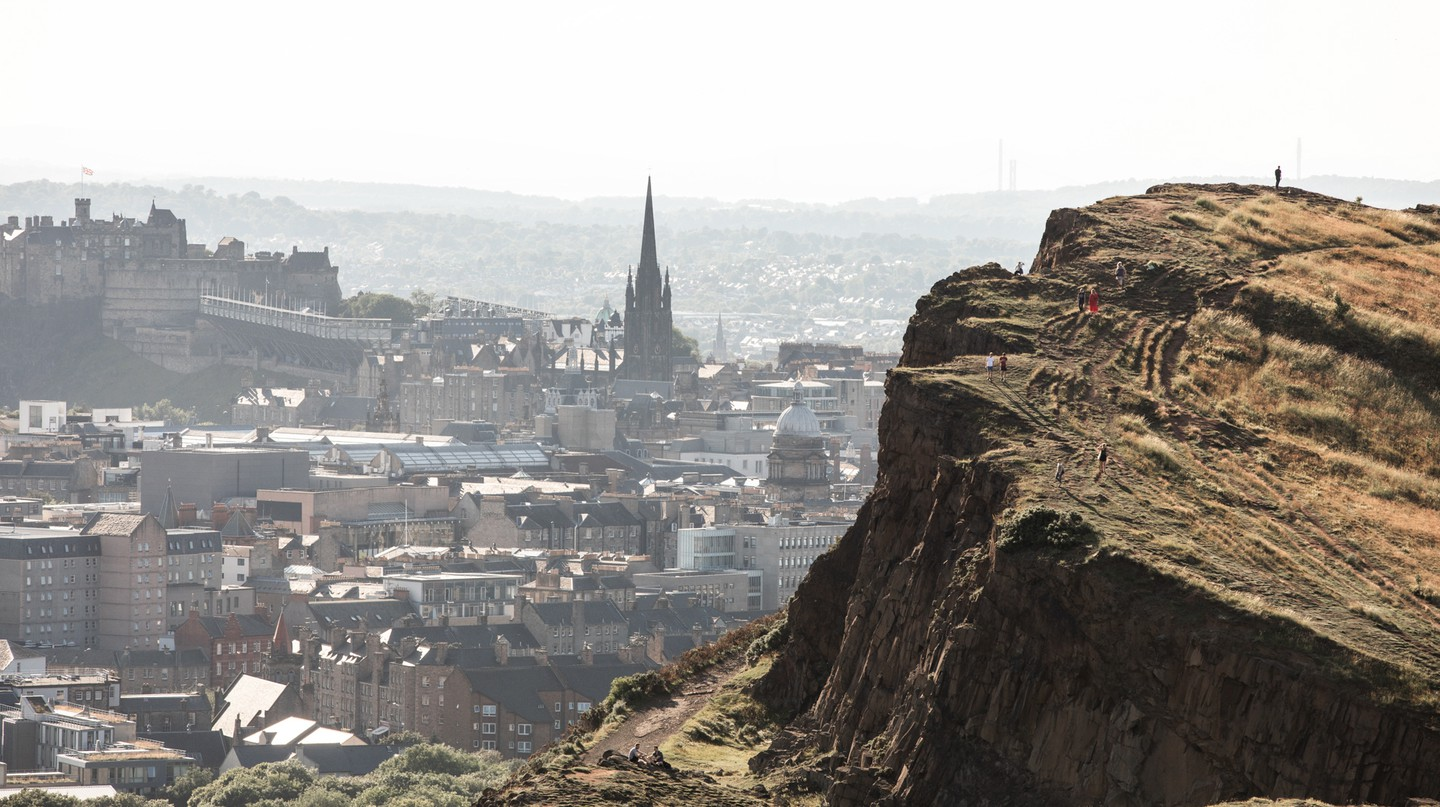 Walk to the top of Arthur's Seat on your trip to Edinburgh