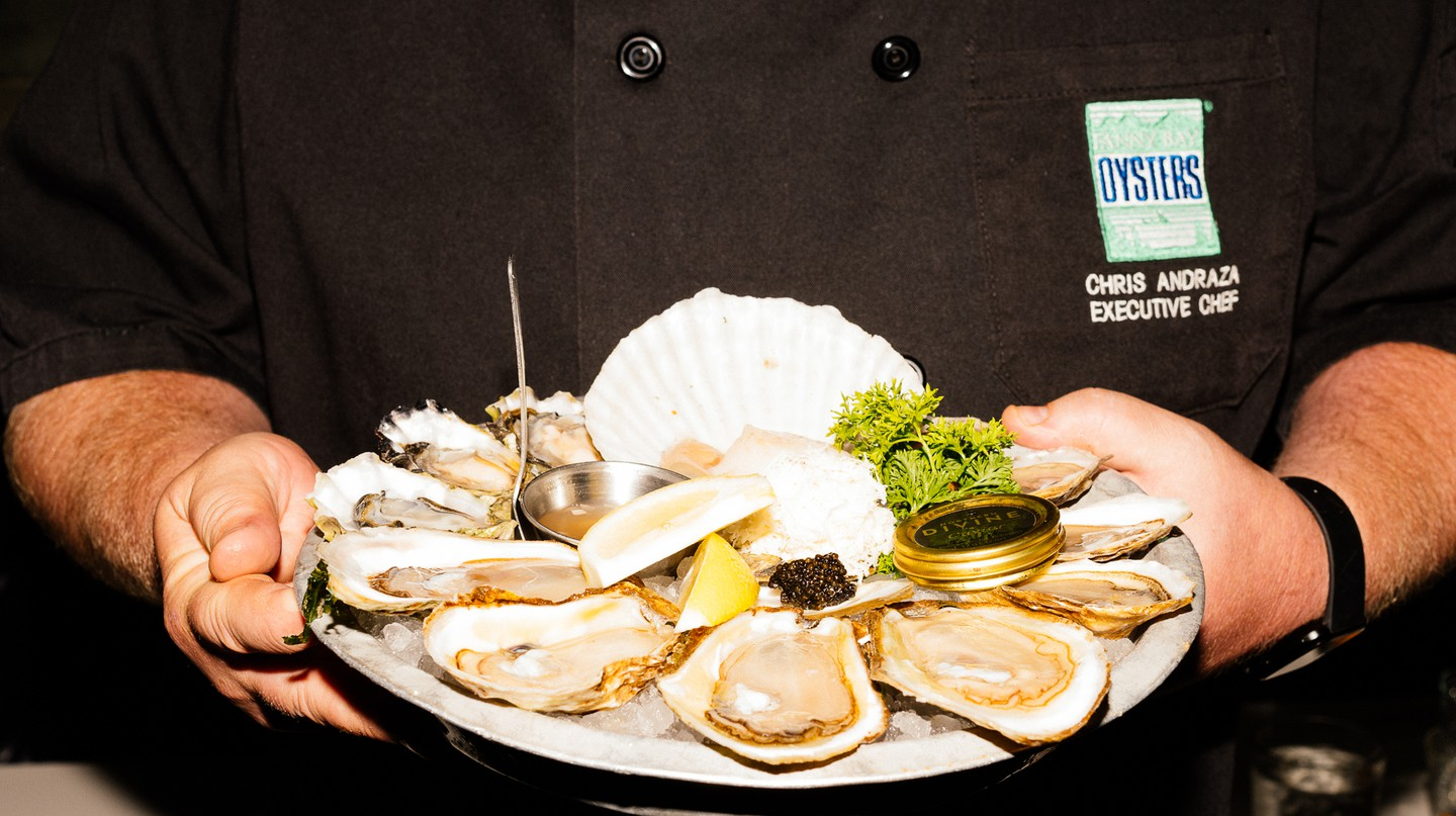 Oysters from Fanny Bay are a specialty in Vancouver