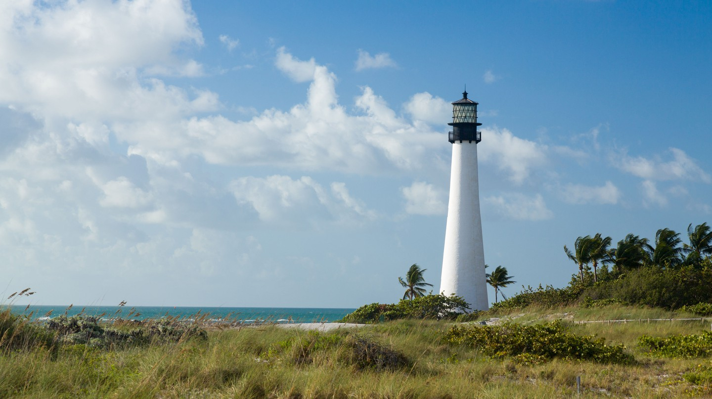 Visit the Cape Florida Lighthouse on a trip to Key Biscayne