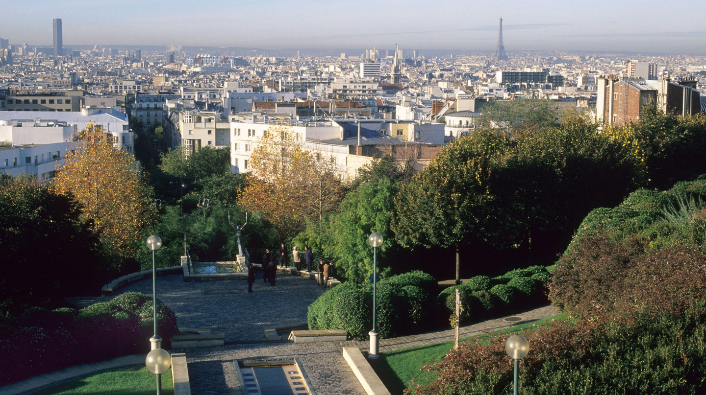 The panoramic views from Parc de Belleville make it the perfect place to spend a sunny afternoon in Paris