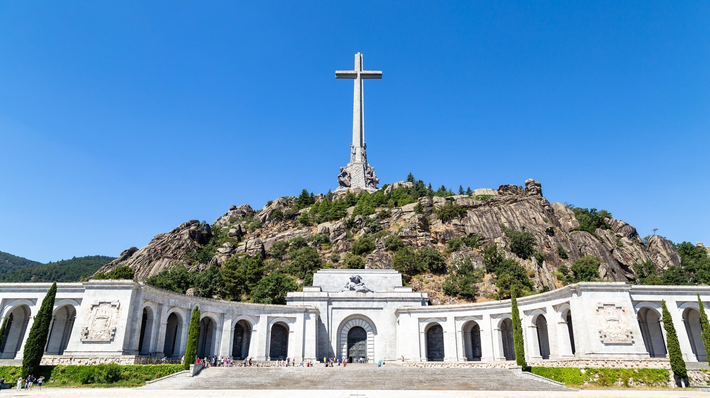 Franco is buried at Valle de Los Caidos – the Valley of the Fallen – just outside Madrid