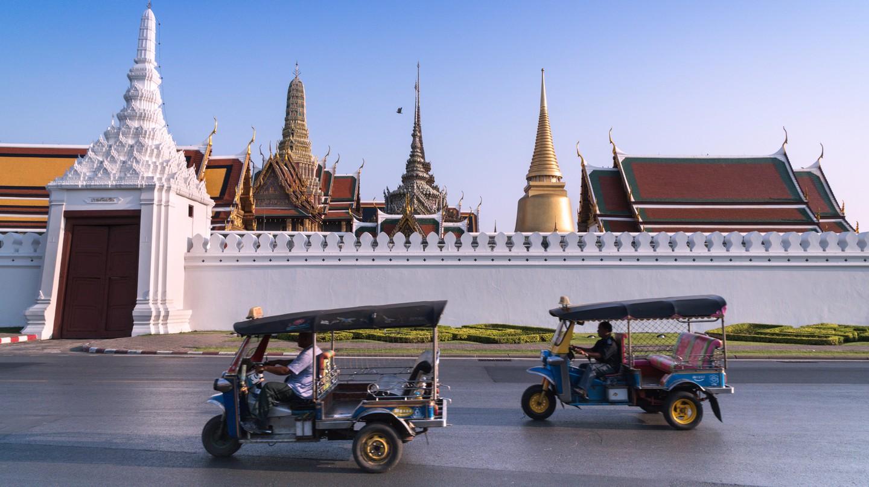 Tour major sights like the Royal Grand Palace by tuk tuk in Bangkok, Thailand