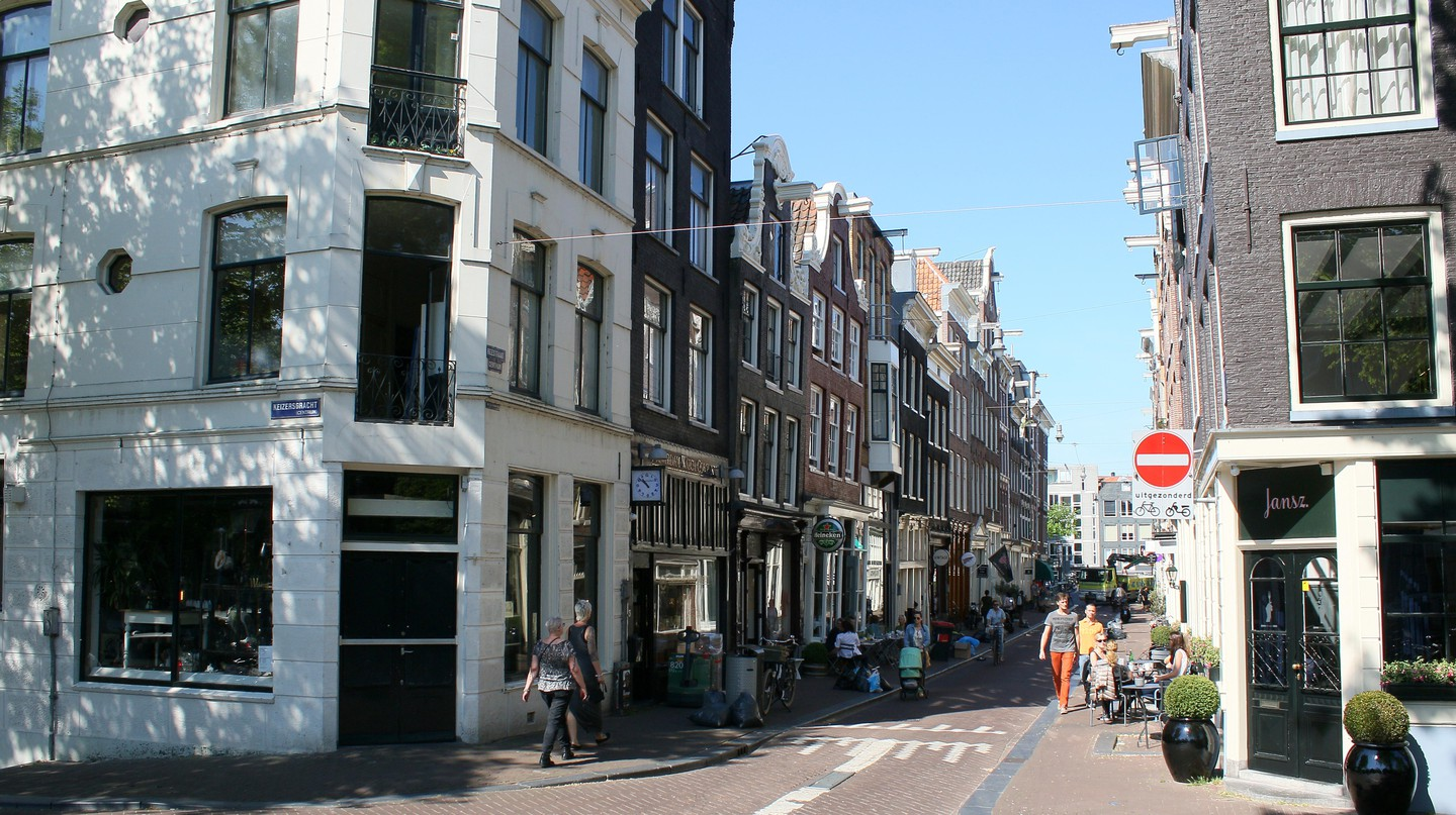 Reestraat corner in the Nine Streets neighbourhood of Amsterdam