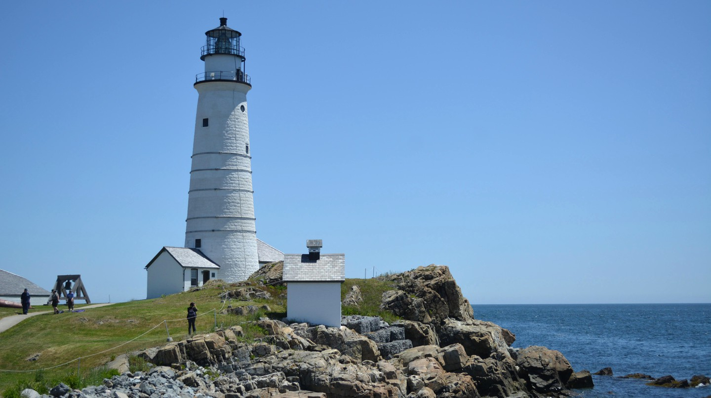 Boston Light light station, sitting on the edge of Boston Harbor atop Little Brewster Island