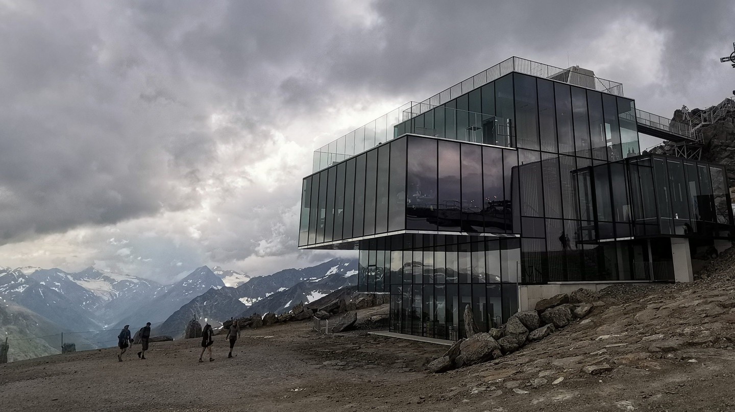 Austria's highest gourmet restaurant, ice Q, featured in the 007 adventure 'Spectre'