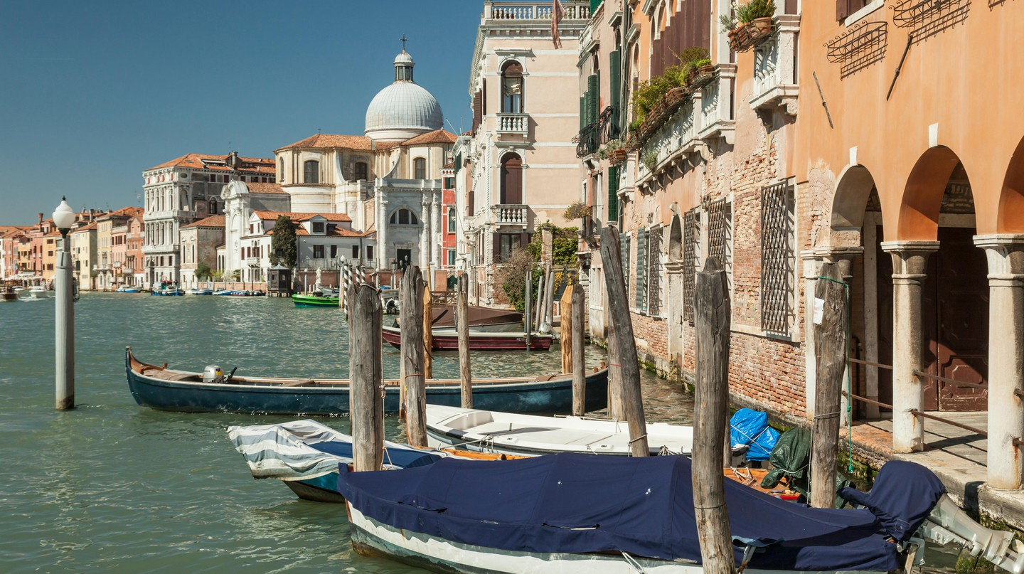 Many luxury hotels in Venice offer views of the Grand Canal